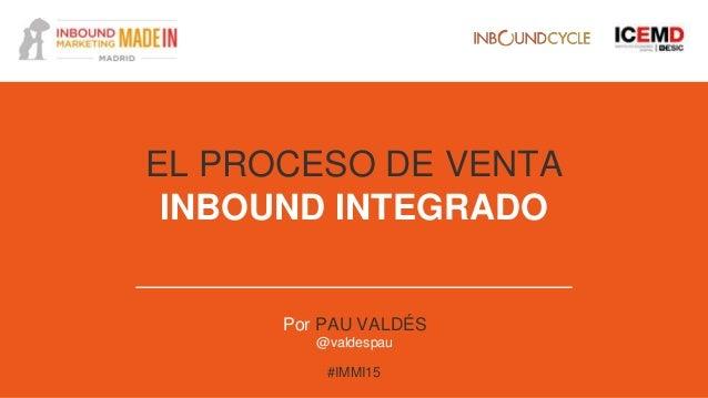 El proceso de venta inbound integrado Slide 2