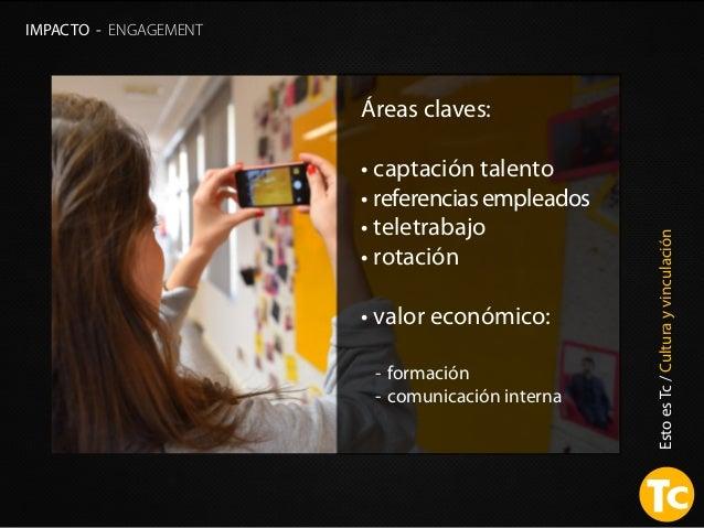 EstoesTc/Culturayvinculación IMPACTO - ENGAGEMENT Áreas claves: • captación talento • referencias empleados • teletrabajo ...