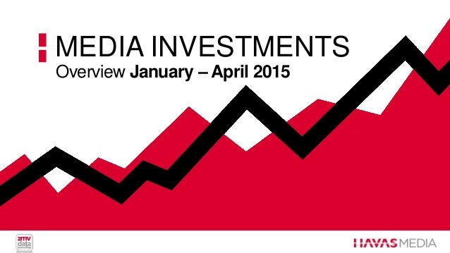 Overview January – April 2015 MEDIA INVESTMENTS