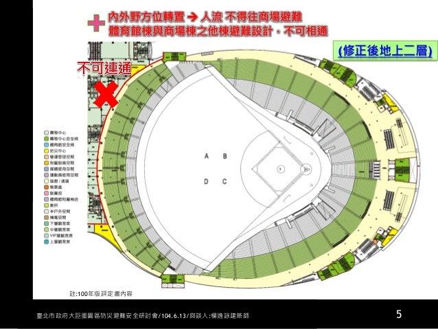 20150613大巨蛋園區防災避難安全研討會與談人楊逸詠建築師