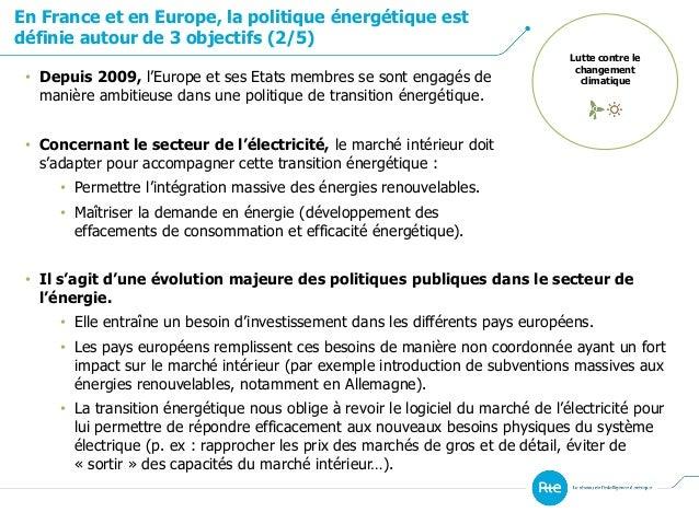 En France et en Europe, la politique énergétique est définie autour de 3 objectifs (2/5) Lutte contre le changement climat...