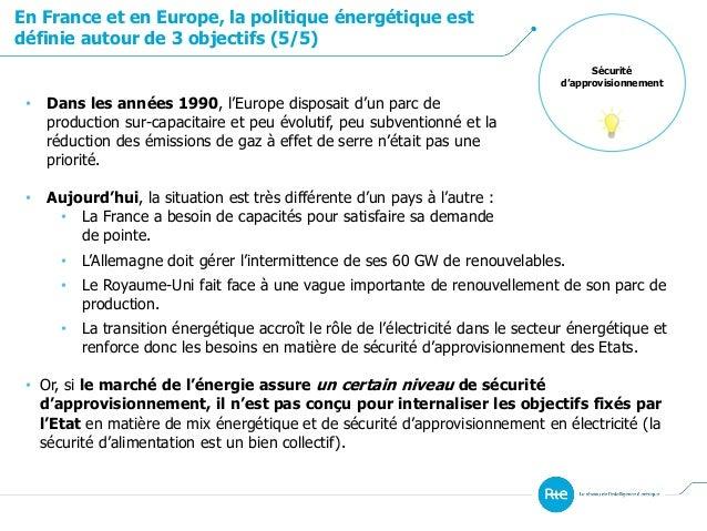 Sécurité d'approvisionnement En France et en Europe, la politique énergétique est définie autour de 3 objectifs (5/5) • Da...