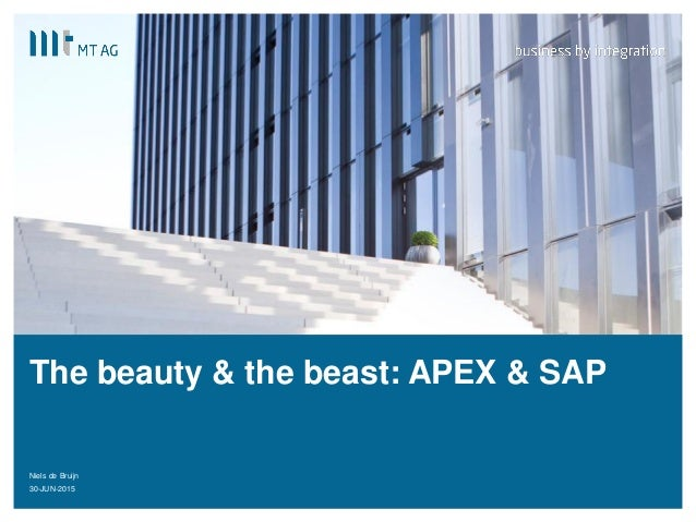 | The beauty & the beast: APEX & SAP Niels de Bruijn 30-JUN-20151