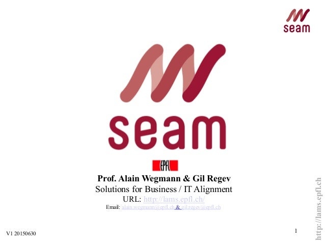 http://lams.epfl.ch 1 Prof. Alain Wegmann & Gil Regev Solutions for Business / IT Alignment URL: http://lams.epfl.ch/ Emai...