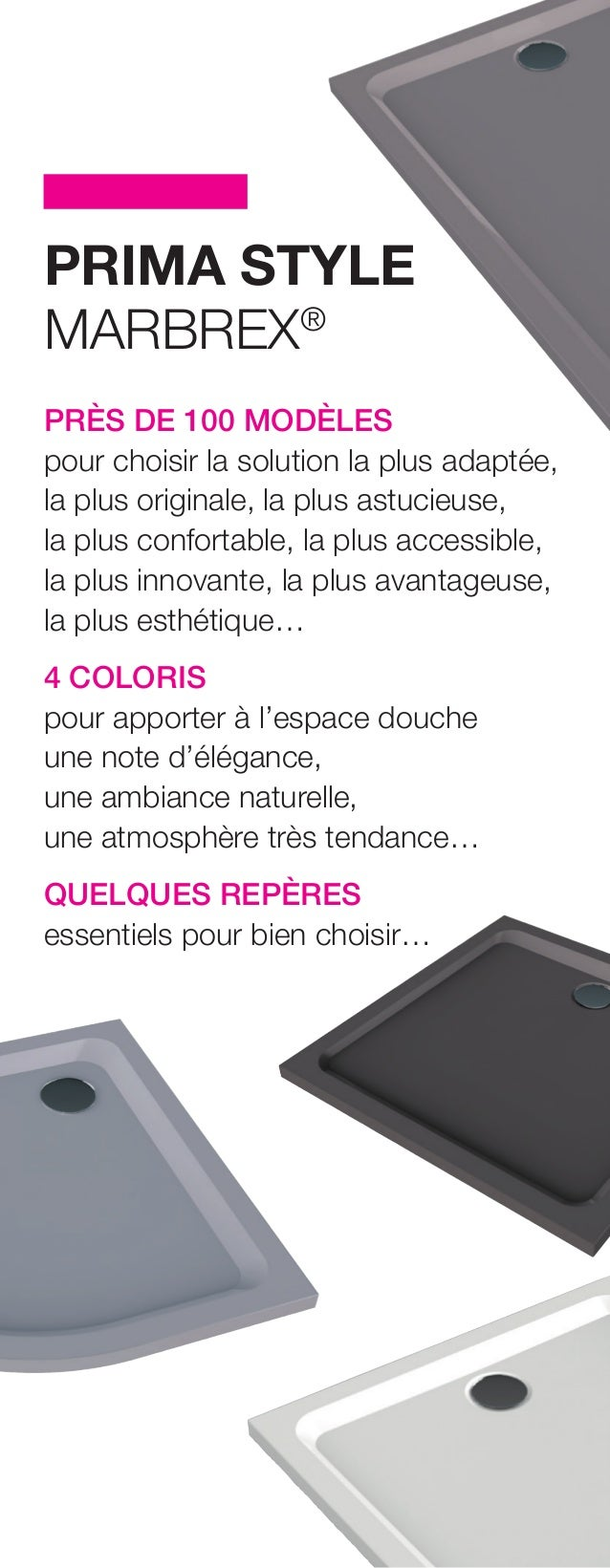 Dossier De Presse Receveurs Prima Style Marbrex Par Allia