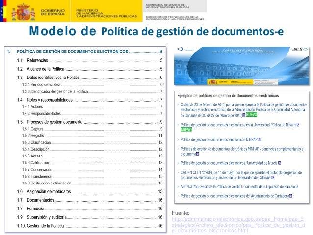 Fuente: http://administracionelectronica.gob.es/pae_Home/pae_E strategias/Archivo_electronico/pae_Politica_de_gestion_d e_...