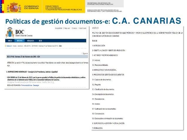 Políticasdegestióndocumentos‐e:C.A. CANARIAS