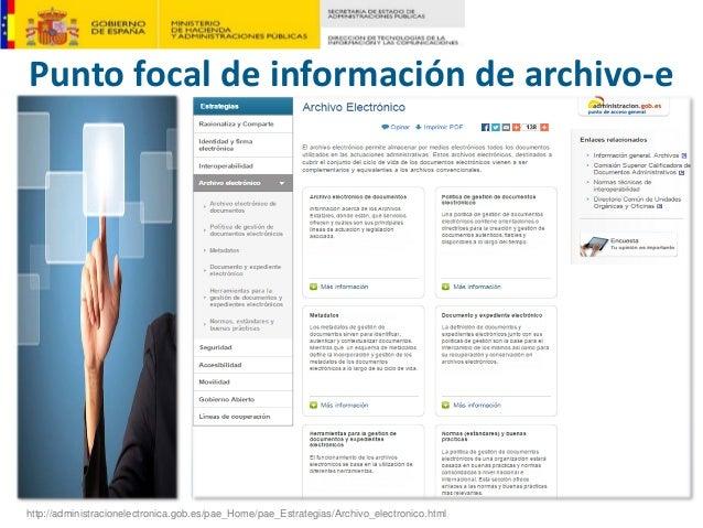 Puntofocaldeinformacióndearchivo‐e http://administracionelectronica.gob.es/pae_Home/pae_Estrategias/Archivo_electroni...