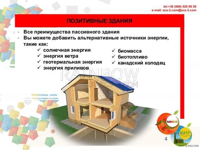 4 ПОЗИТИВНЫЕ ЗДАНИЯ - Все преимущества пассивного здания - Вы можете добавить альтернативные источники энергии, такие как:...