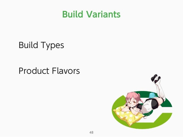 Build Variants 48 Build Types Product Flavors