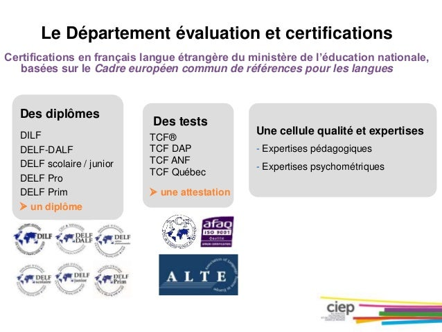 les certifications en  fle