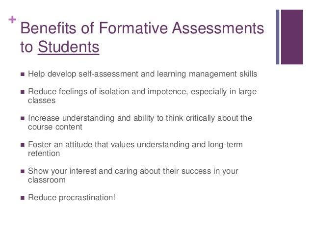 The Use Of Formative Assessment In Legal Education