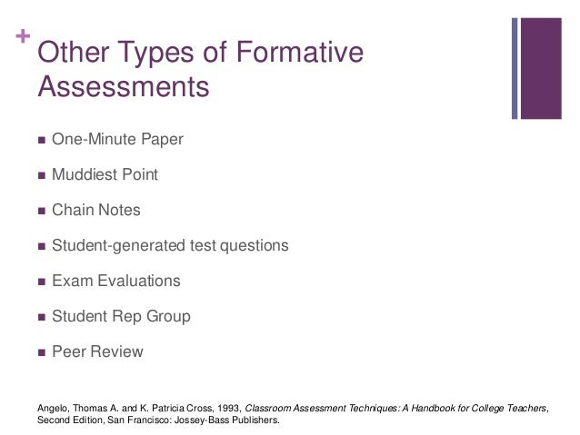 Types Of Assessments Writing Assignments Other Types Of Formative