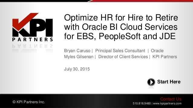 Optimize HR From Hire To Retire With Oracle BI Cloud Service