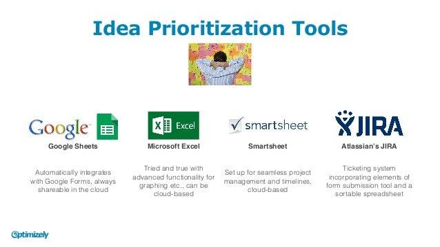 idea prioritization tools google sheets