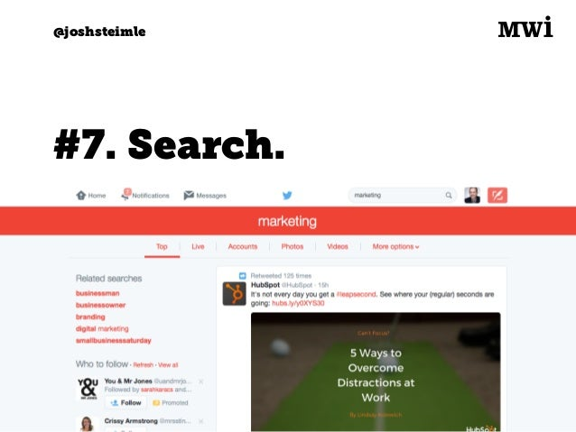 Digital marketing for tech companies. @joshsteimle @joshsteimle #8. Direct messages.