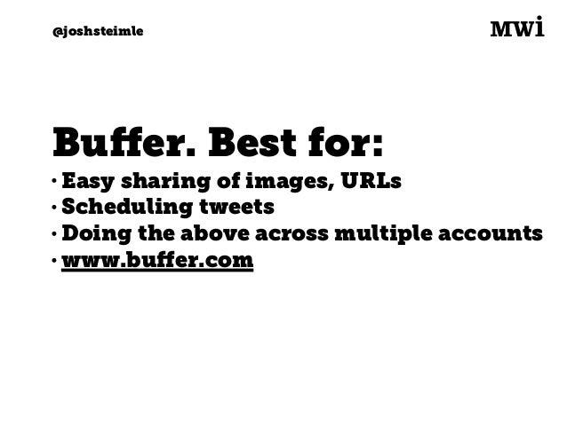 Digital marketing for tech companies. @joshsteimle @joshsteimle Warble. Best for: • Google Alerts for Twitter • Receive al...