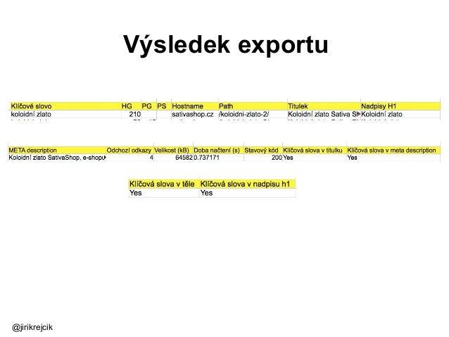 Výsledek exportu @jirikrejcik
