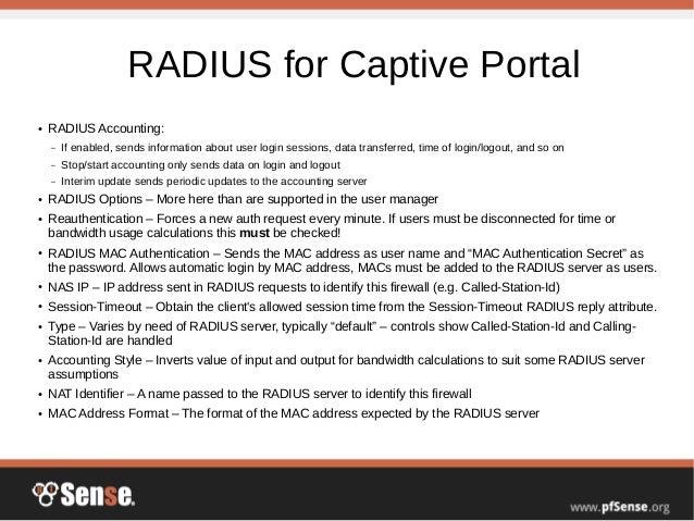 RADIUS and LDAP - pfSense Hangout August 2015