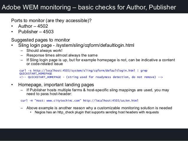 CIRCUIT 2015 - Monitoring AEM