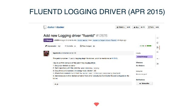 """Tweet Again! """"Happy v1 #k8s and congrats #Fluentd for becoming a #docker logging driver"""""""
