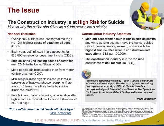 20150829 final construction industry blueprint for suicide prevention suicide prevention in the workplace a construction industry blueprint 2 malvernweather Images