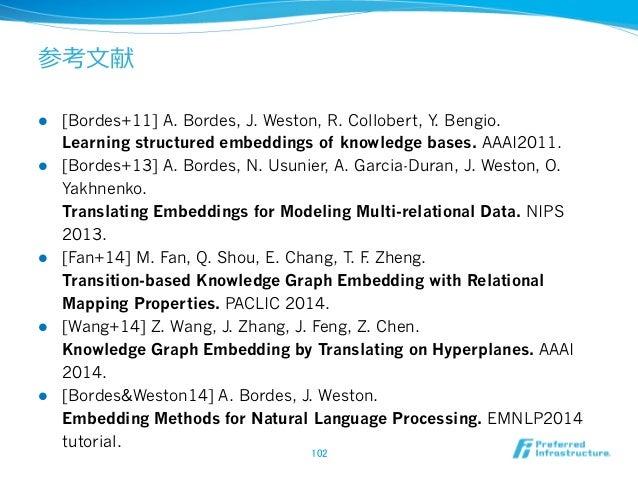 参考⽂文献 l [Peng+15a] Baolin Peng, Kaisheng Yao. Recurrent Neural Networks with External Memory for Language Understanding....