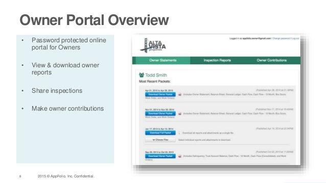 Appfolio owner tenant portals customer webinar recap - Portal entree ownership ...