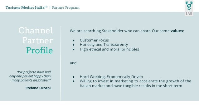 We are searching Stakeholder who can share Our same values: ● Customer Focus ● Honesty and Transparency ● High ethical and...