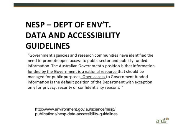 australian government access management guidelines and standards