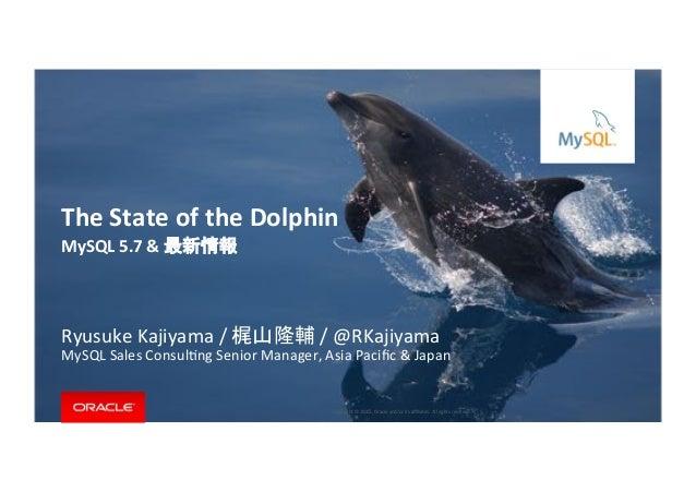 Copyright*©*201 ,*Oracle*and/or*its*affiliates.*All*rights*reserved.**|* MySQL&5.7&&& & Ryusuke*Kajiyama*/* */*@RKajiyama* M...