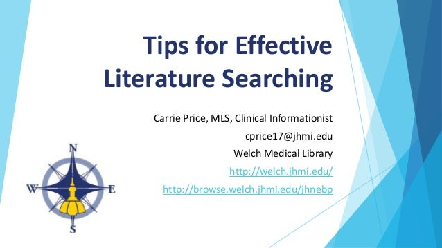 Components of an effective Literature Review