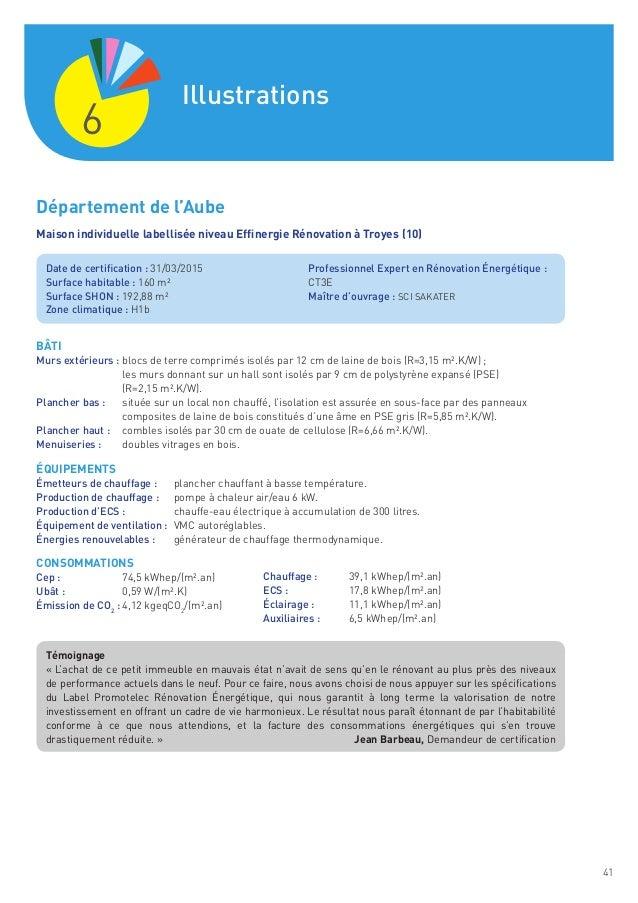 Observatoire Promotelec  Er Retour DExprience Label Rnovation n