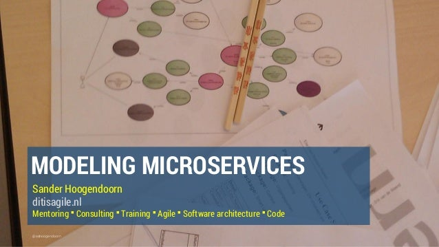 @aahoogendoorn MODELING MICROSERVICES Sander Hoogendoorn ditisagile.nl Mentoring ▪ Consulting ▪ Training ▪ Agile ▪ Softwar...