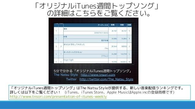 2015/09/21付 オリジナルiTunes週間トップソングトピックス Slide 2