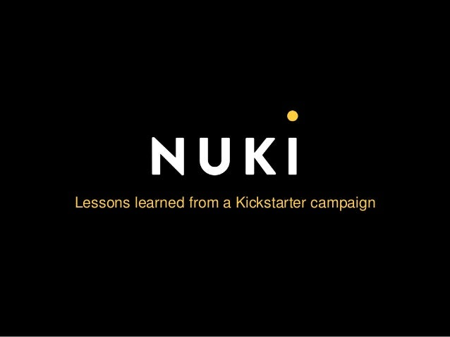 Lessons learned from a Kickstarter campaign