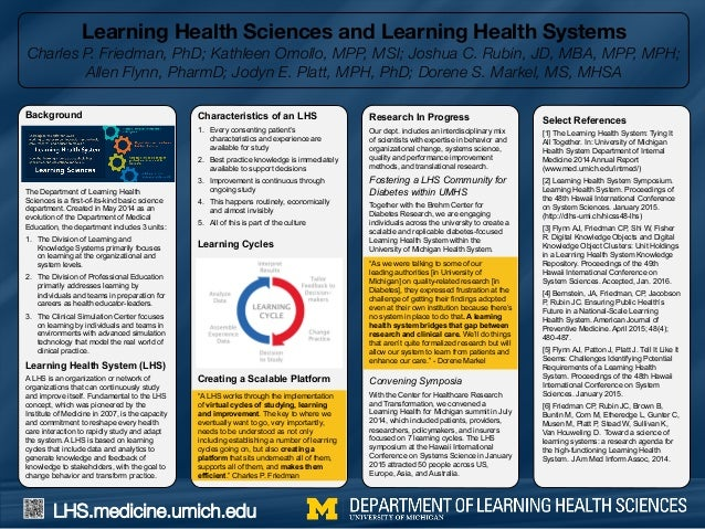 LHS.medicine.umich.edu Learning Health Sciences and Learning Health Systems Charles P. Friedman, PhD; Kathleen Omollo, MPP...