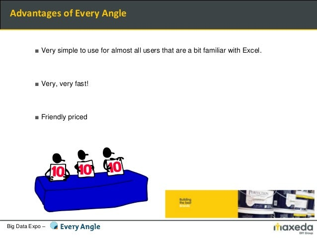 Big Data Expo – ■ Very simple to use for almost all users that are a bit familiar with Excel. ■ Very, very fast! ■ Friendl...