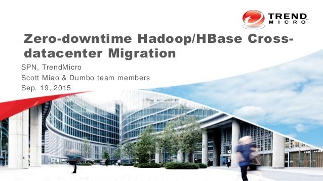 Zero-downtime Hadoop/HBase Cross- datacenter Migration SPN, TrendMicro Scott Miao & Dumbo team members Sep. 19, 2015