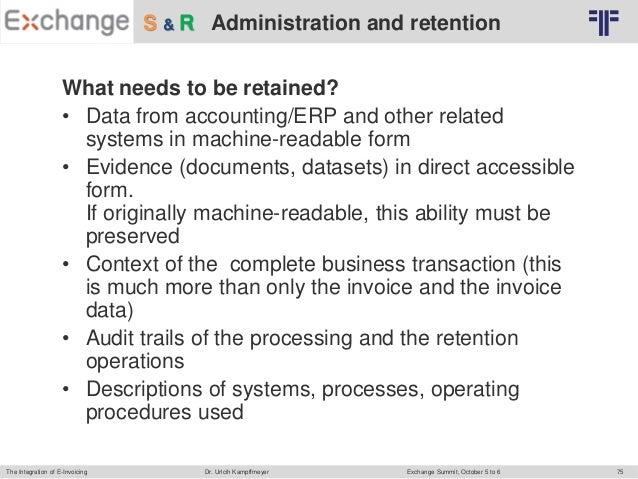 EN] Keynote Exchange Summit: Integration of E-Invoicing Into