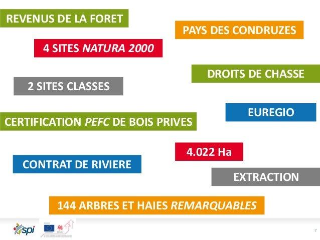 7 4 SITES NATURA 2000 144 ARBRES ET HAIES REMARQUABLES CERTIFICATION PEFC DE BOIS PRIVES CONTRAT DE RIVIERE PAYS DES CONDR...