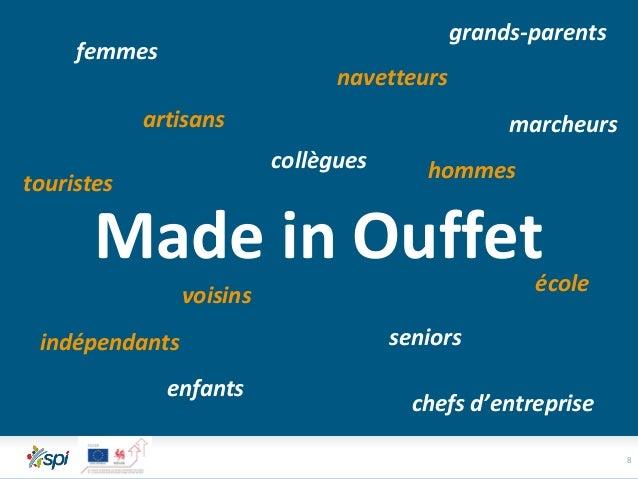 8 Made in Ouffet seniors femmes enfants hommes voisins collègues navetteurs touristes chefs d'entreprise artisans indépend...
