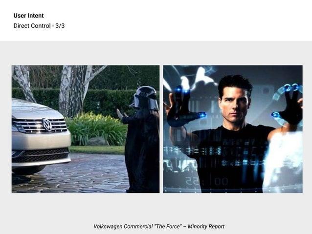 "User Intent Direct Control - 3/3 Volkswagen Commercial ""The Force"" – Minority Report"