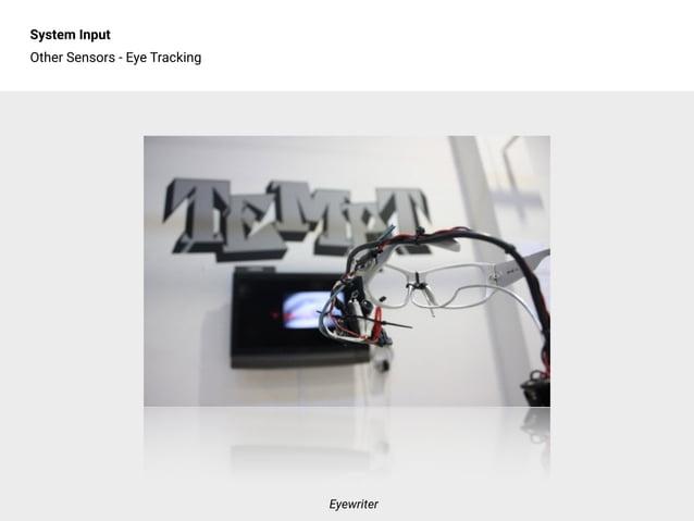 System Input Other Sensors - Eye Tracking Eyewriter