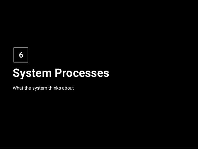 System Processes What the system thinks about 6