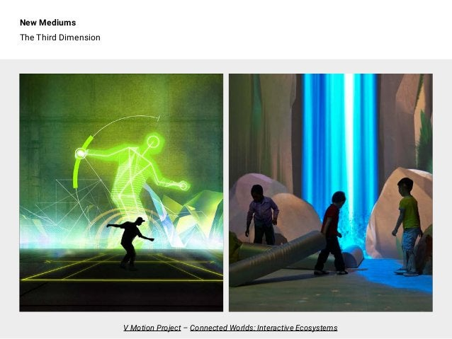 New Mediums The Third Dimension V Motion Project – Connected Worlds: Interactive Ecosystems