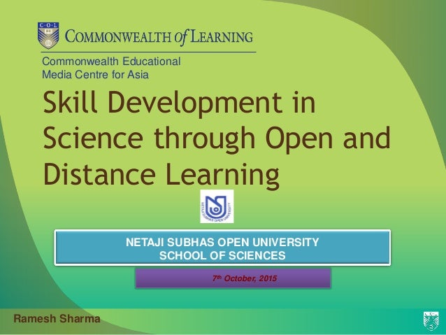 Skill Development In Science Through Open And Distance Learning At Ns