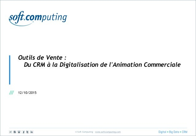 © Soft Computing – www.softcomputing.com Outils de Vente : Du CRM à la Digitalisation de l'Animation Commerciale 12/10/2015