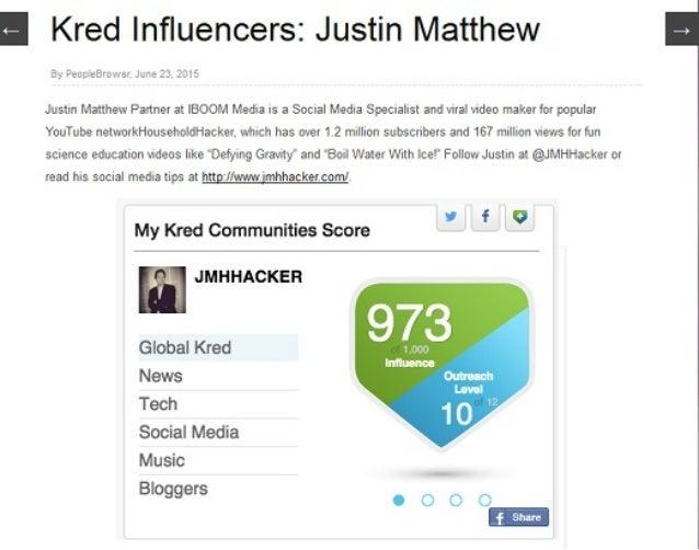 I Kred lnfluencersz Justin Matthew  5', ' Feuc-eBru'. -rs:  Jure 23. 2315  Justin Matthew Partnet at IBOOM Media is a Socia...