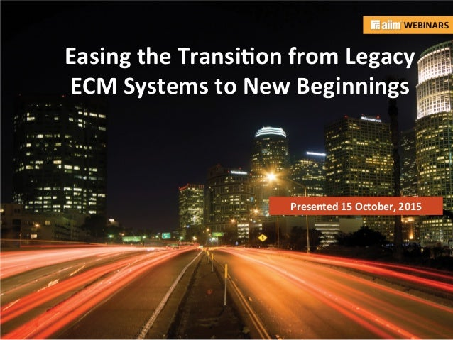 transitioning from legacy systems to an Implementation of electronic health records (ehrs) in a medical practice is not an easy task – everything that touches a paper record in a medical office (or hospital) needs to be accounted for when transitioning to a new ehr, in order for the paper record to be successfully abandoned.